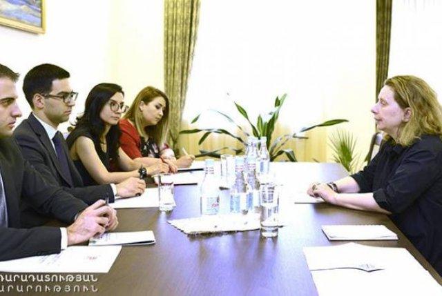 Министр юстиции принял руководителя ереванского офиса Совета Европы