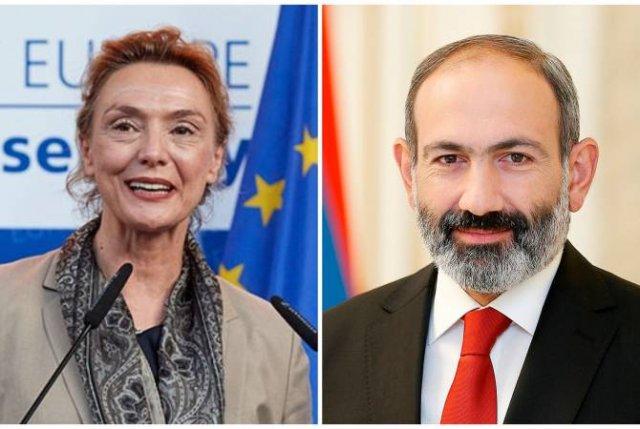 Премьер-министр Никол Пашинян поздравил Марию Пейчинович Бурич по случаю избрания на пост генерального секретаря Совета Европы