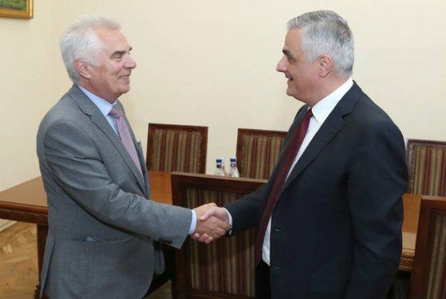 Вице-премьер Мгер Григорян принял руководителя делегации ЕС в Армении Петра Свитальского