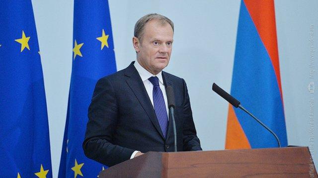 Глава Евросовета Дональд Туск посетит Армению
