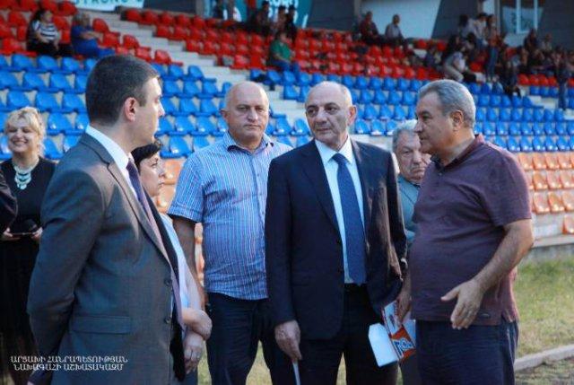 Бако Саакян ознакомился с подготовкой к 7-м Панармянским играм