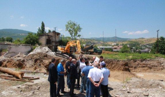 В Степанакерте появится новый жилой квартал: стройплощадку посетил президент Арцаха