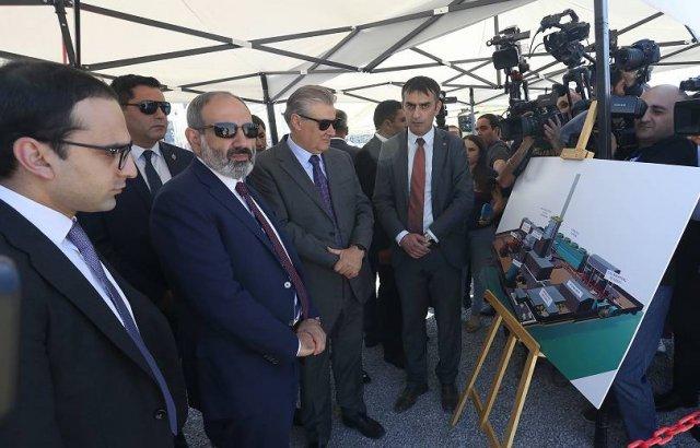 Строительство электростанции мощностью 250 МВт в Ереване: на церемонии присутствует премьер
