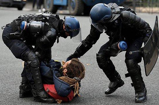 В Париже задержали 43 человека из-за ночных беспорядков