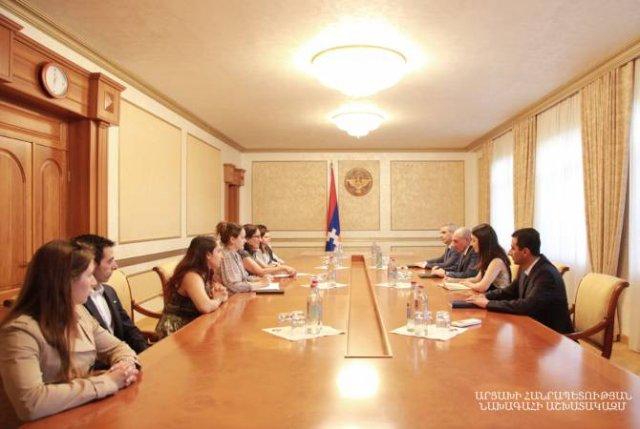 Президент Республики Арцах принял группу американских студентов армянского происхождения