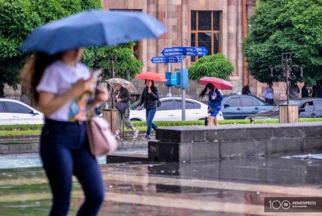 В ближайшие дни ожидаются кратковременные дожди