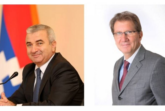 Ашот Гулян поздравил руководителя круга дружбы «Франция-Арцах» Ги Тессье с Национальным праздником