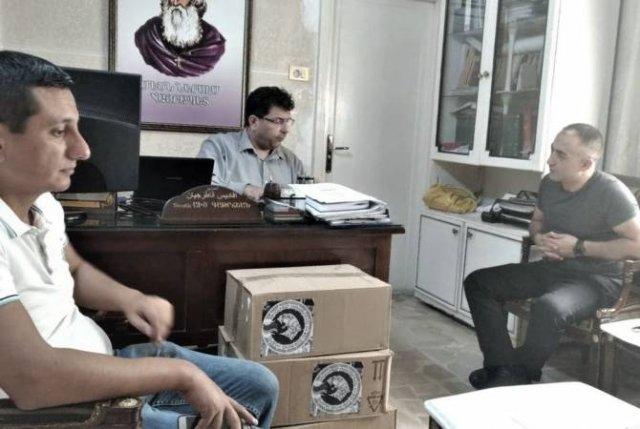 Гуманитарная миссия Армении подарила медикаменты Армянскому дому престарелых и госпиталю Алеппо