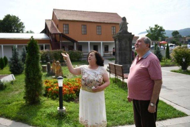 Президент Армен Саркисян посетил село Дсех, где родился Ованес Туманян