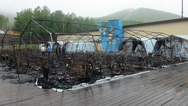 Число детей, погибших при пожаре в хабаровском лагере, увеличилось до трех