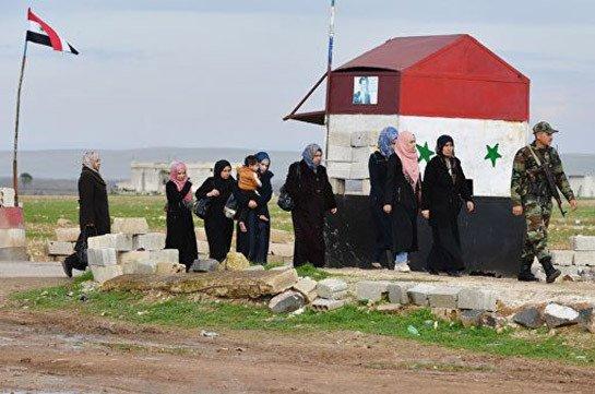 В Сирию за сутки вернулись более 1,6 тысячи беженцев