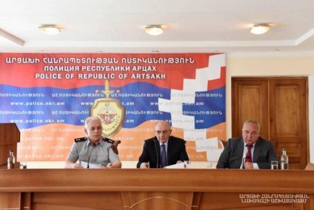 Бако Саакян принял участие в заседании коллегии полиции Арцаха