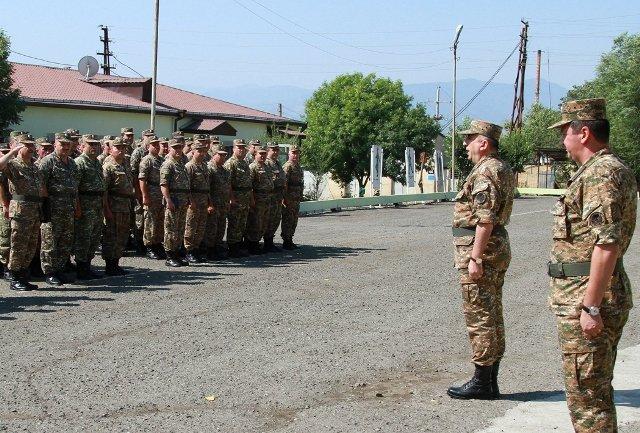 Показательные тактико-строевые занятия в Армии обороны Арцаха