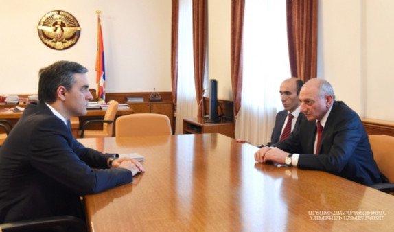 Президент Арцаха встретился с омбудсменом Армении