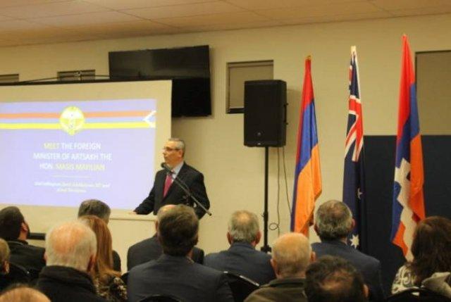 Глава МИД Арцаха представил армянской общине Австралии внешнюю и внутреннюю политику страны