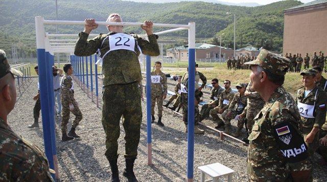 В Армении стартовал первый этап «Атлет» международного конкурса АРМИ-2019 «Воин мира»