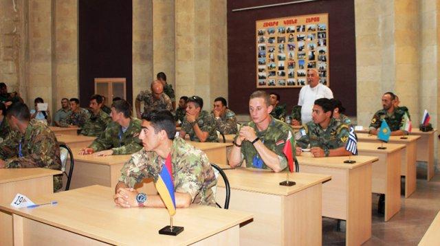 Команда ВС Армении заняла первое место в конкурсе «Эрудит»
