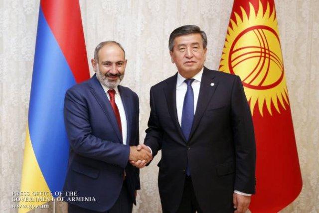 Никол Пашинян встретился с президентом Кыргызстана