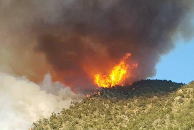 В тушении пожара в Сюнике задействованы представители силовых структур