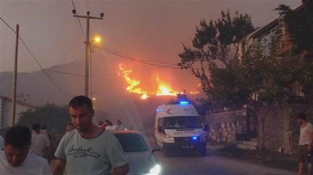 Лесной пожар охватил турецкий остров Мармара