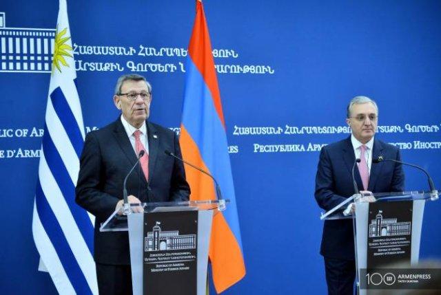 Главы МИД Уругвая и Армении не видят альтернативы мирному урегулированию карабахского конфликта