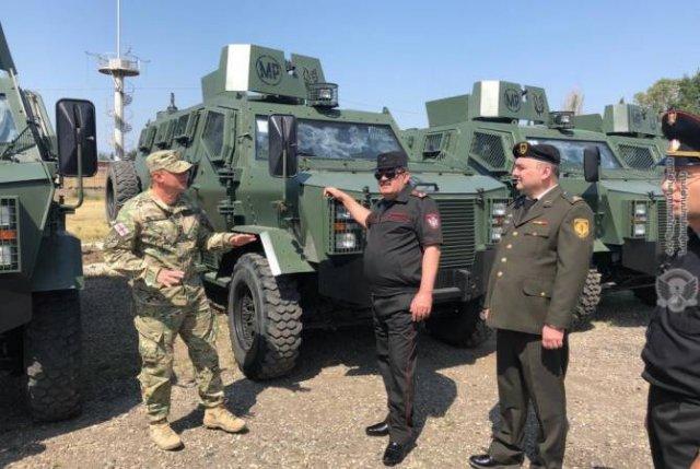 Делегация во главе с начальником Военной полиции находится в Грузии