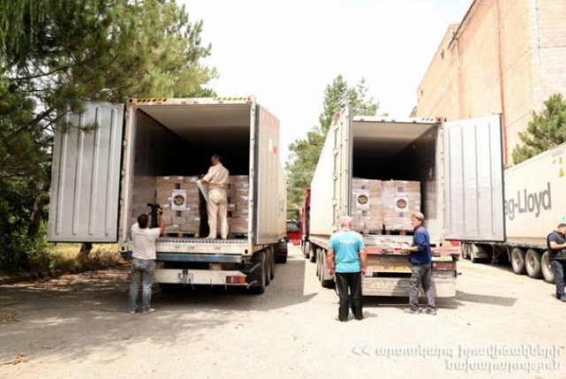 МЧС Армении в Сирию отправило гуманитарную помощь