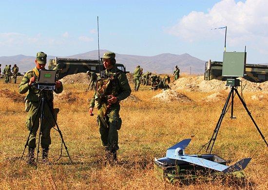 Военнослужащие российской военной базы в Армении провели мониторинг двустороннего учения с применением БЛА