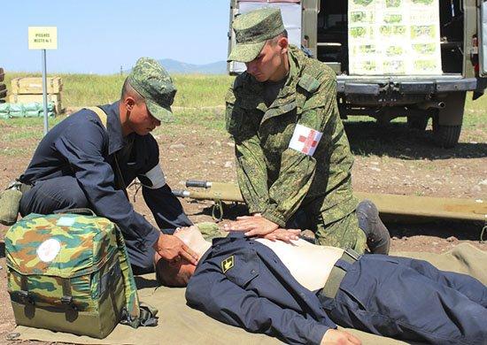 В Армении медики ЮВО отработали оказание медицинской помощи пострадавшим