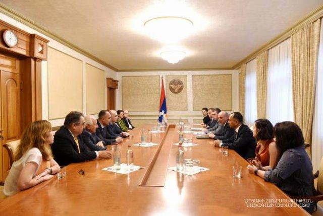 Президент Республики Арцах принял делегацию Всеармянского фонда «Айастан»