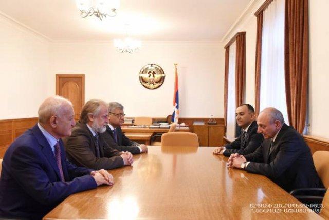 Президент Республики Арцах принял делегацию Комитета градостроительства Республики Армения