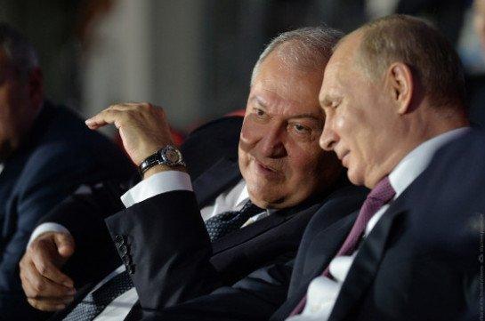 В связи с Днем независимости Армении Владимир Путин направил поздравительное послание Армену Саркисяну