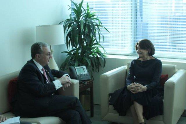 Зограб Мнацаканян встретился с заместителем Генерального секретаря ООН Розмари Дикарло