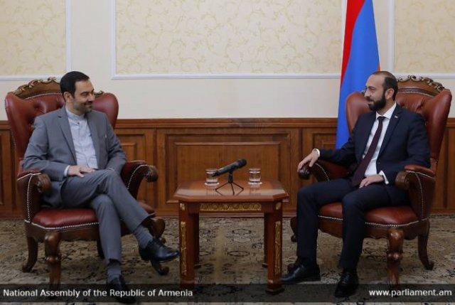 Председатель НС провел прощальную встречу с послом Ирана, завершающим дипломатическую миссию в РА