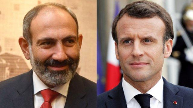 Никол Пашинян провел телефонный разговор с президентом Франции