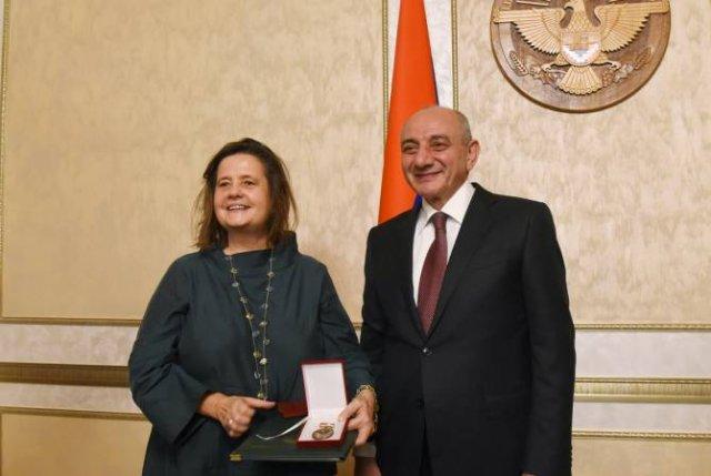 Президент Арцаха провел встречу с членами франкофонной делегации Королевства Бельгия