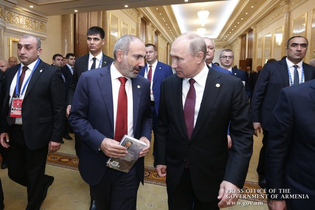 Пашинян и Путин обсудили ситуацию в Сирии