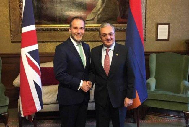 Мнацаканян встретился с государственным министром Великобритании по вопросам Европы и Америки