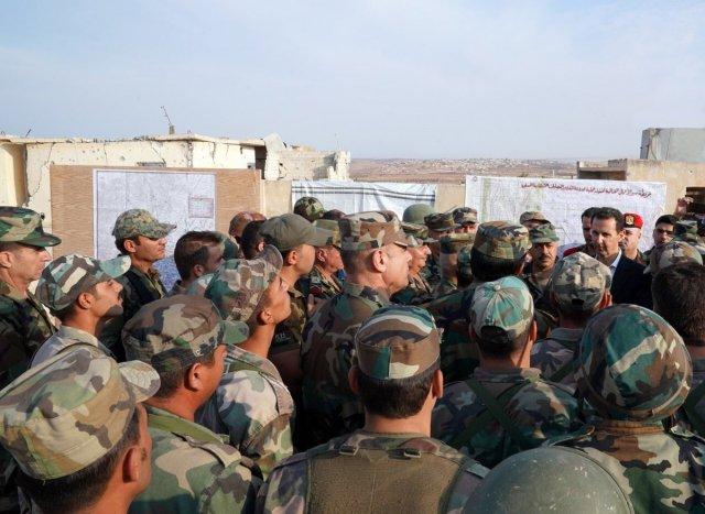 Асад приехал на линию фронта