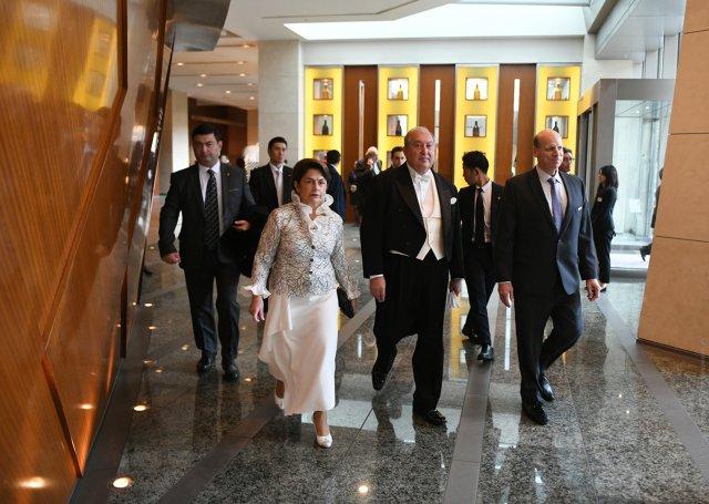 Президент Армении присутствовал на церемонии восшествия на престол императора Японии