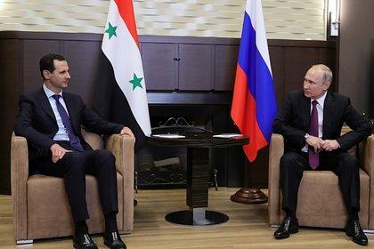 Путин рассказал Асаду о договоренностях с Турцией