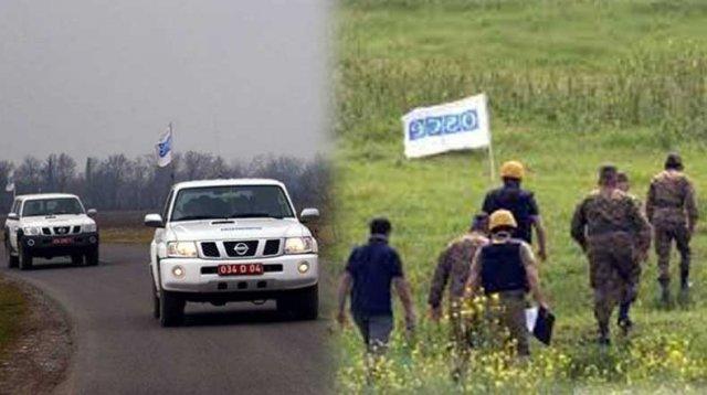 Миссия ОБСЕ провела плановый мониторинг режима прекращения огня в зоне карабахского конфликта