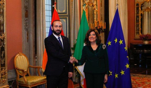 Спикер парламента Армении и председатель Сената Италии договорились активизировать сотрудничество