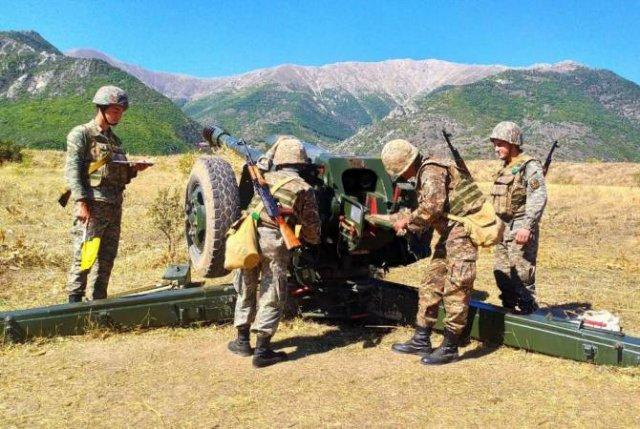 Проведены практические занятия артиллеристов