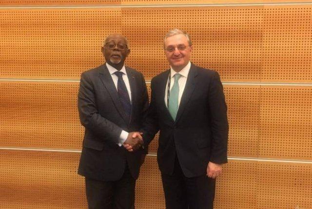 Зограб Мнацаканян встретился с министром иностранных дел Камеруна