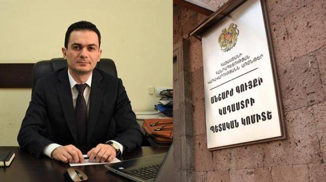 Заместитель руководителя комитета кадастра Левон Меликян представил заявление об уходе