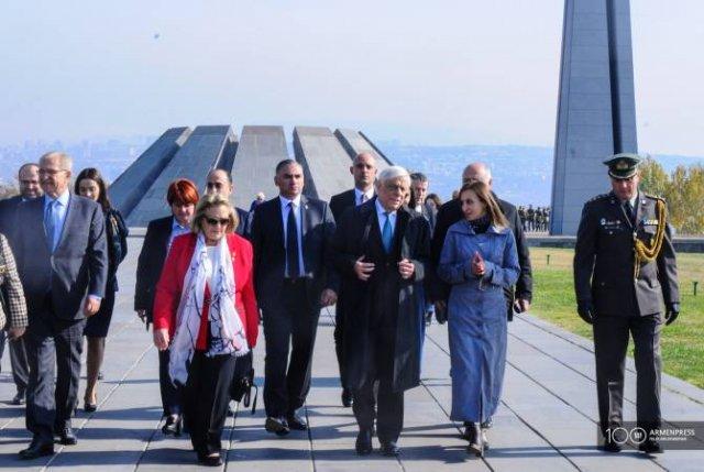 Президент Греции воздал дань уважения памяти жертв Геноцида армян