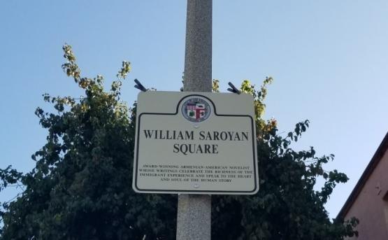 Мемориальная доска в память об Уильяме Сарояне установлена в Лос-Анджелесе