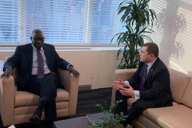 Мгер Маргарян встретился со специальным советником генерального секретаря ООН Адама Диенгом