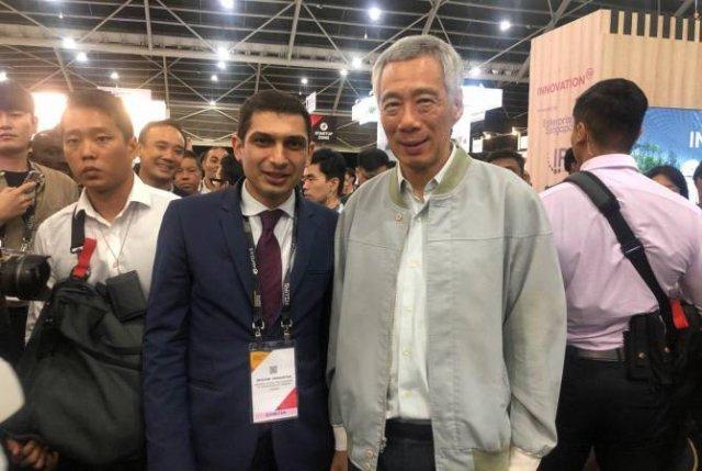 """Павильон Армении на выставке """"SWITCH 2019"""" посетил премьер-министр Сингапура"""
